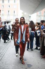 OLIVIA PALERMO Arrives at Max Mara Show at Milan Fashion Week 09/19/2019