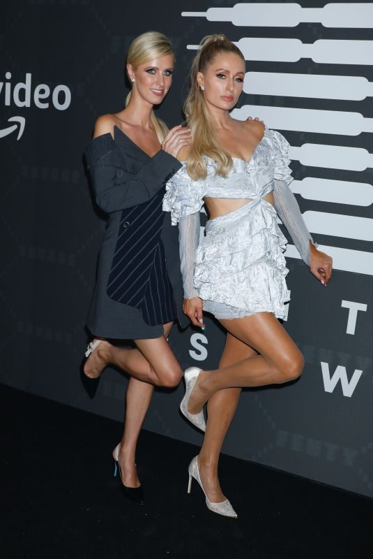 PARIS and NICKY HILTON at Savage x Fenty Show in Brooklyn 09/10/2019