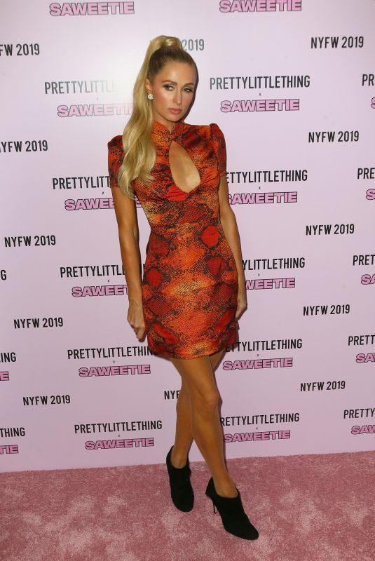 PARIS HILTON at Prettylittlething x Saweetie Show at New York Fashion Week 09/08/2019