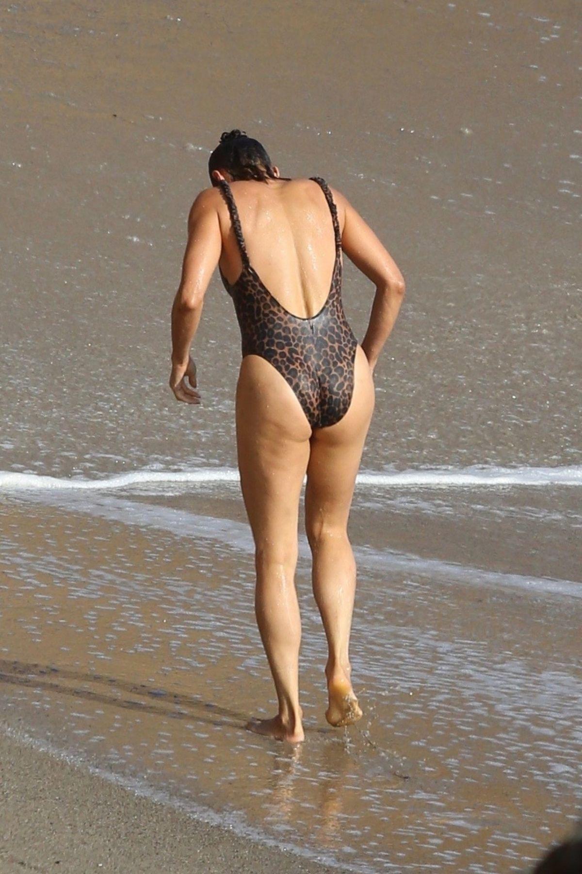 PAULA PATTON in Swimsuit on the Beach in Malibu 09/23/2019