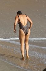 PAULA PATTON in Swimsuit on the Beach in Malibu 09/23/2019
