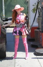 PHOEBE PRICE at a Gas Station in Hollywood 09/18/2019
