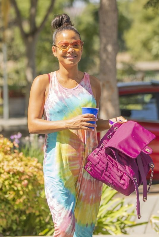 Pregnant CHRISTINA MILIAN Shopping at Farmers Market in Los Angeles 09/14/2019