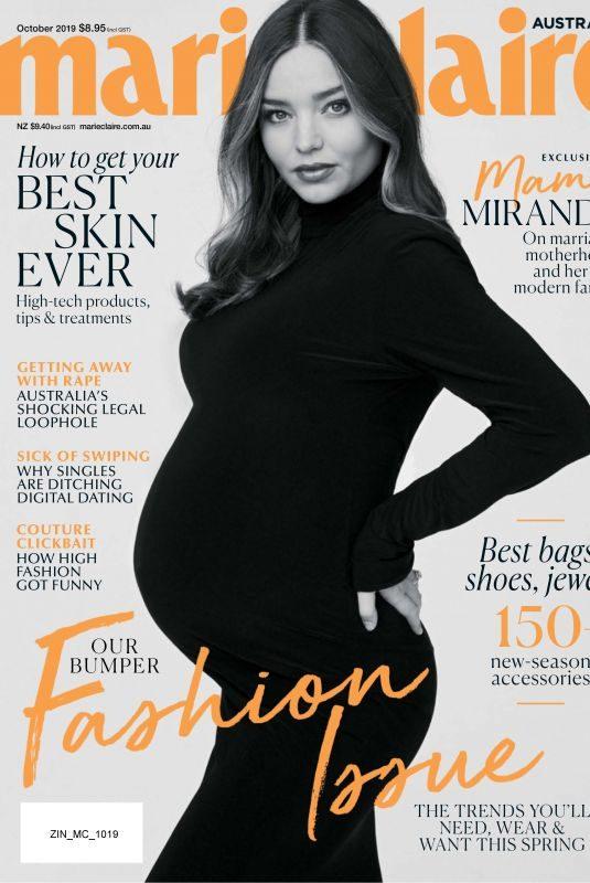 Pregnant MIRANDA KERR in Marie Claire Magazine, Australia October 2019