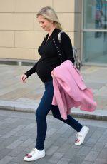 Pregnant RACHEL RILEY Leaves Media City in London 09/11/2019