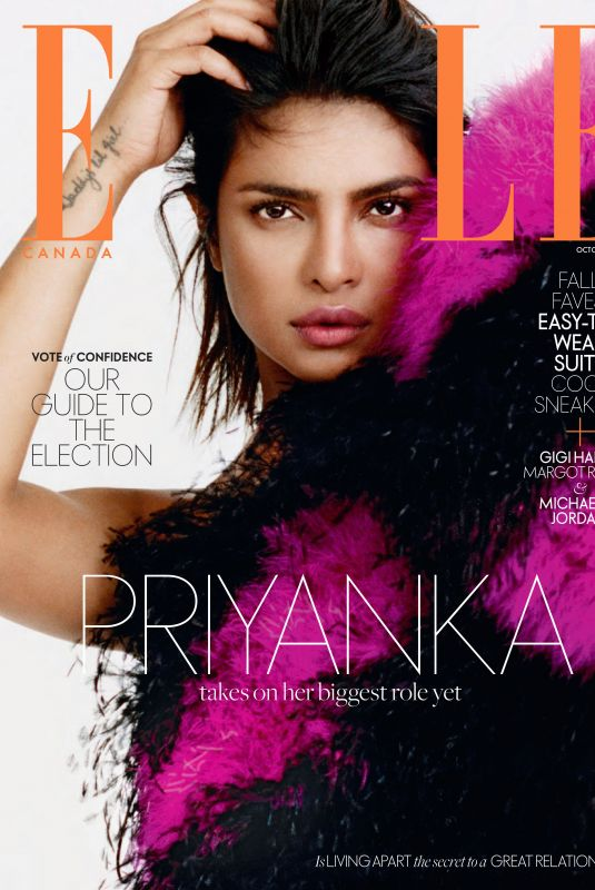PRIYANKA CHOPRA in Elle Magazine, Canada October 2019