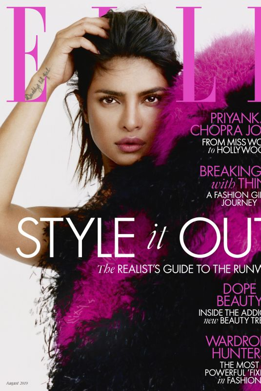 PRIYANKA CHOPRA in Elle Magazine, UK August 2019