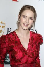 RACHEL BROSNAHAN at Bafta LA + BBC America TV Tea Party 09/21/2019