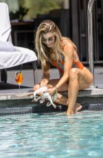 RACHEL MCCORD in Swimsuit at a Pool in Hollywood 09/11/2019