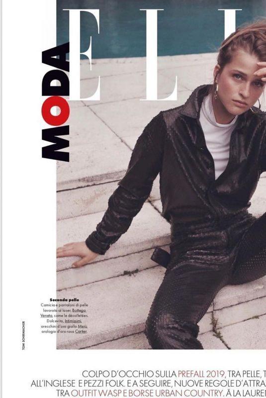 REGITZE CHRISTENSEN for Elle Magazine, Italy September 2019