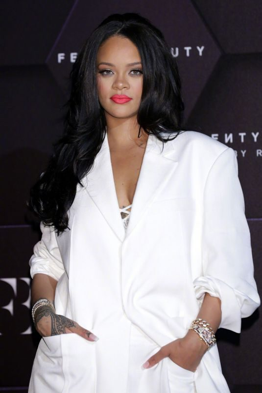 RIHANNA at Fenty Beauty Artistry Beauty Talk with Rihanna at Lotte World Tower in Seoul 09/17/2019
