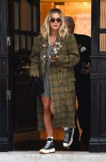 RITA ORA Leaves Her Management Office in London 09/18/2019