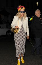 RITA ORA Night Out in London 09/19/2019