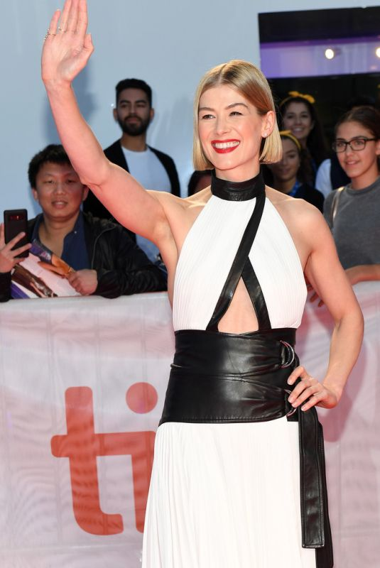 ROSAMUND PIKE at Radioactive Premiere in Toronto 09/14/2019