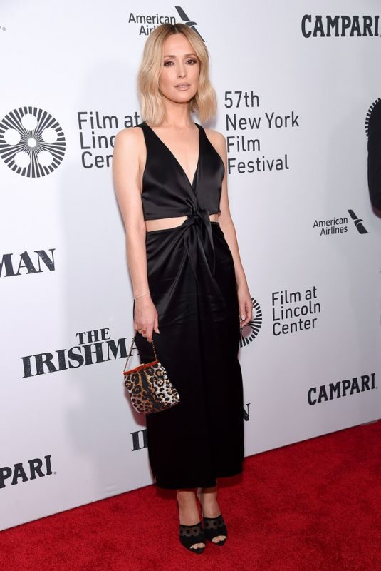 ROSE BYRNE at The Irishman Screening at 57th New York Film Festival 09/27/2019
