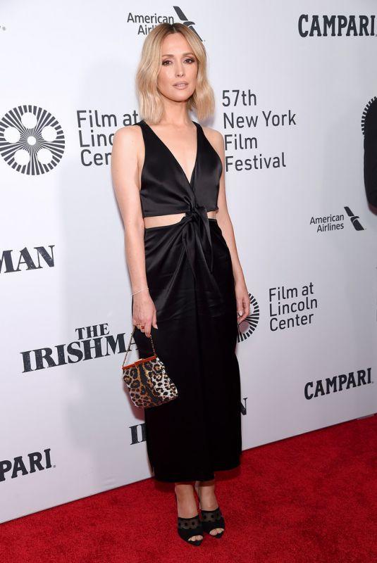ROSE BYRNE at The Irishman Screening at 57th New York Film Festival 09/27/2019