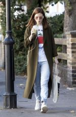 ROSE LESLIE Out for a Smoothie in London 09/12/2019