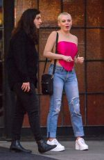 ROSE MCGOWAN Shares Kiss Outside Bowery Hotel in New York 09/14/2019