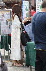 ROSELYN SANCHEZ Shopping at Farmers Market in Los Angeles 09/22/2019