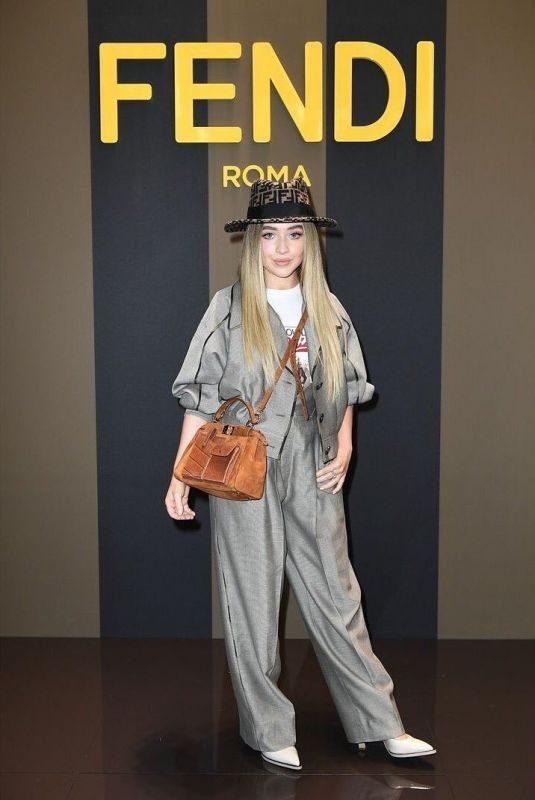 SABRINA CARPENTER at Fendi Women's Spring/Summer 2020 Fashion Show at MFW in Milan 09/18/2019
