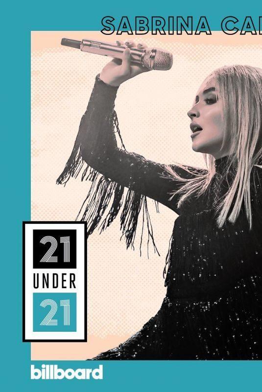 SABRINA CARPENTER in Billboard 21 Under 21: Music's Next Generation, 2019