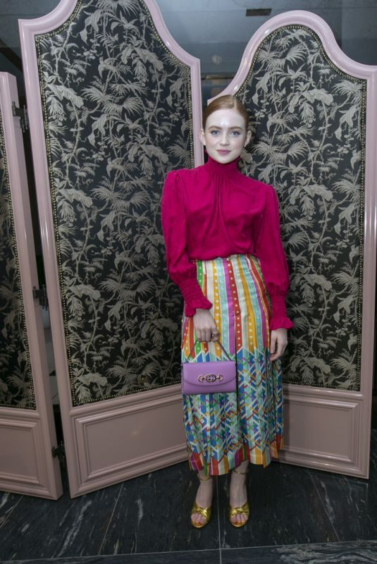 SADIE SINK at Gucci Zumi Handbag Collection Celebration in Chicago 09/26/2019