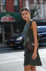 SARAH ELLEN Out at New York Fashion Week 09/11/2019