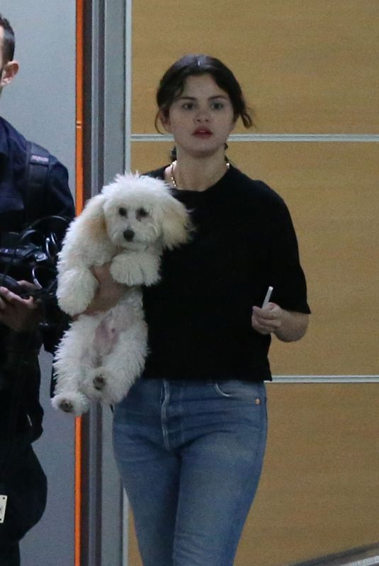 SELENA GOMEZ Out with Her Dog Winnie in West Hollywood 09/23/2019