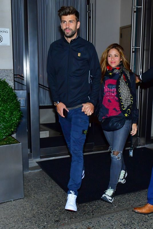 SHAKIRA and Gerard Pique Night Out in New York 09/06/2019