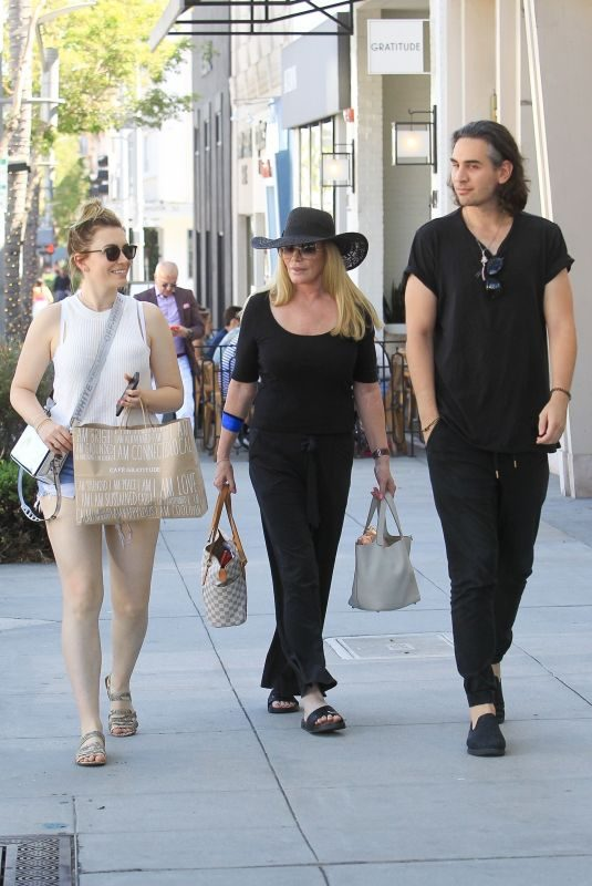 SHANNON TWEED and SOPHIE and Nick SIMMONS Out in Beverly Hills 08/30/2019