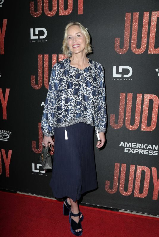 SHARON STONE at Judy Premiere at Samuel Goldwyn Theater in Beverly Hills 09/19/2019