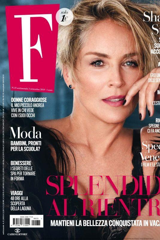 SHARON STONE in F Magazine, September 2019