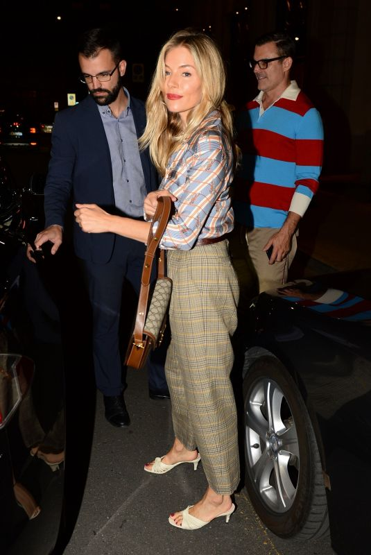 SIENNA MILLER and Jared Leto Night Out in Milan 09/22/2019