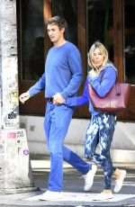 SIENNA MILLER and Lucas Zwirner Out in New York 09/19/2019