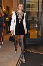 SIENNA MILLER Leaves Her Hotel at Milan Fashion Week 09/22/2019