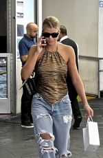 SOFIA RICHIE in Ripped Jeans Out in Beverly Hills 09/11/2019
