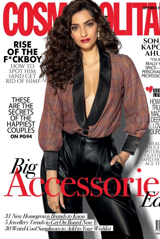 SONAM KAPOOR in Cosmopolitan Magazine, India September 2019