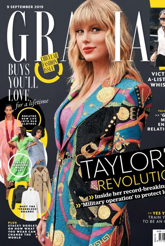 TAYLOR SWIFT in Grazia Magazine, UK September 2019