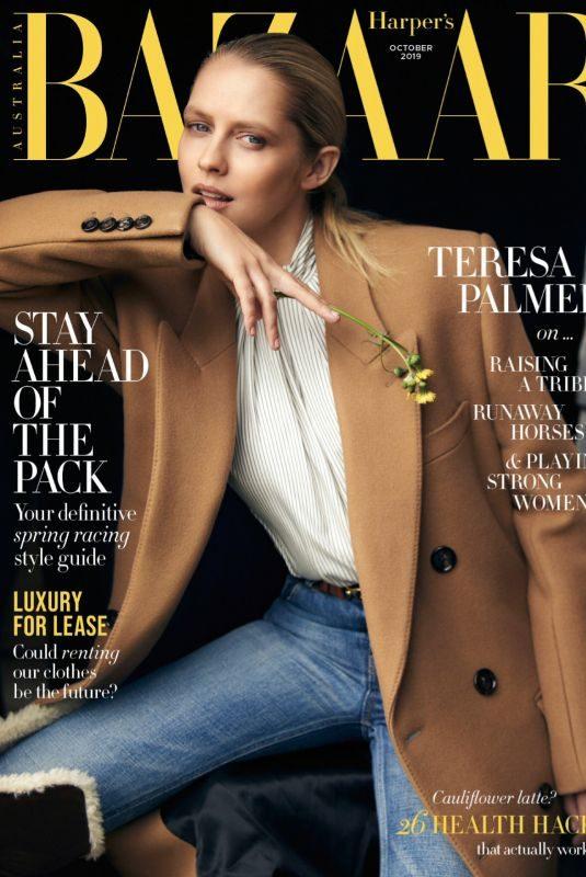 TERESA PALMER in Harper's Bazaar Magazine, Australia October 2019
