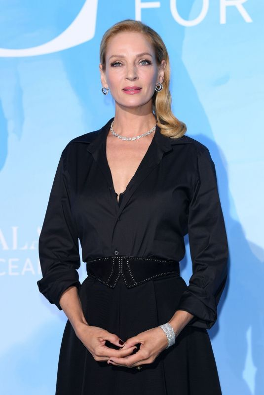 UMA THURMAN at Gala for the Global Ocean 2019 in Monte-Carlo 09/26/2019