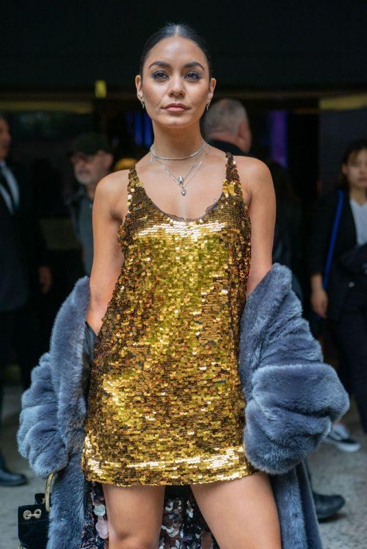 VANESSA HUDGENS Arrives at Vera Wang Show at New York Fashion Week 09/10/2019