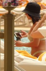 VANESSA HUDGENS in Bikini at a Pool in Las Vegas 09/17/2019