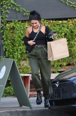 VANESSA HUDGENS Out for Dinner in Los Angeles 09/17/2019