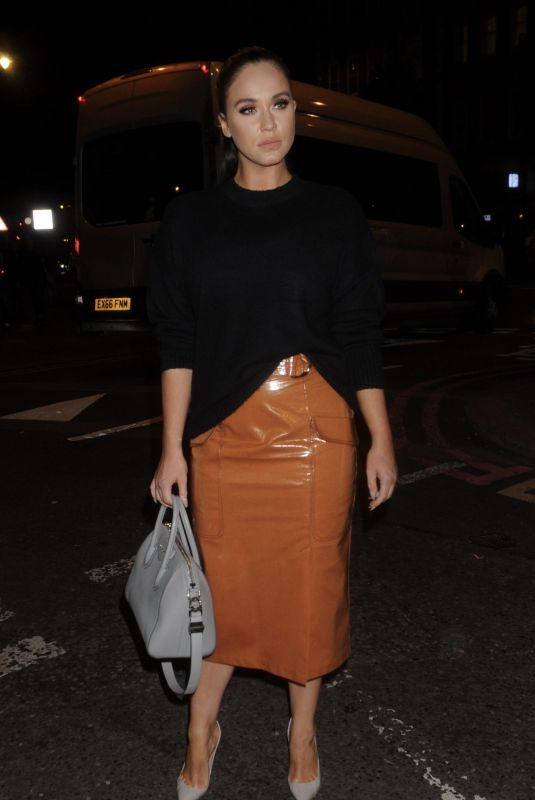 VICKY PATTISON Arrives at Exempt London Fashion Week Party 09/11/2019