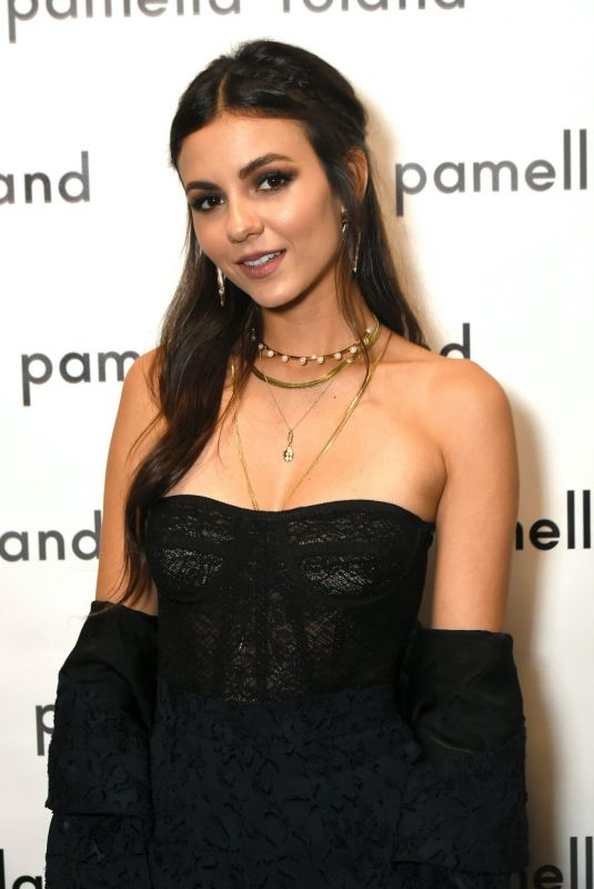 VICTORIA JUSTICE at Pamella Rowland Fashion Show in New York 09/10/2019