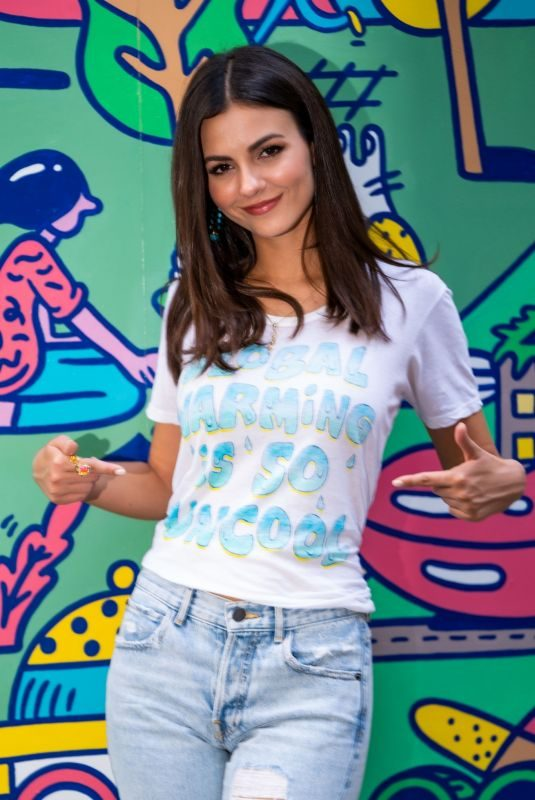 VICTORIA JUSTICE at Pledge for Planet Photocall in New York 09/23/2019