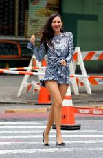 VICTORIA JUSTICE on the Set of a Photoshoot in New York 09/08/2019