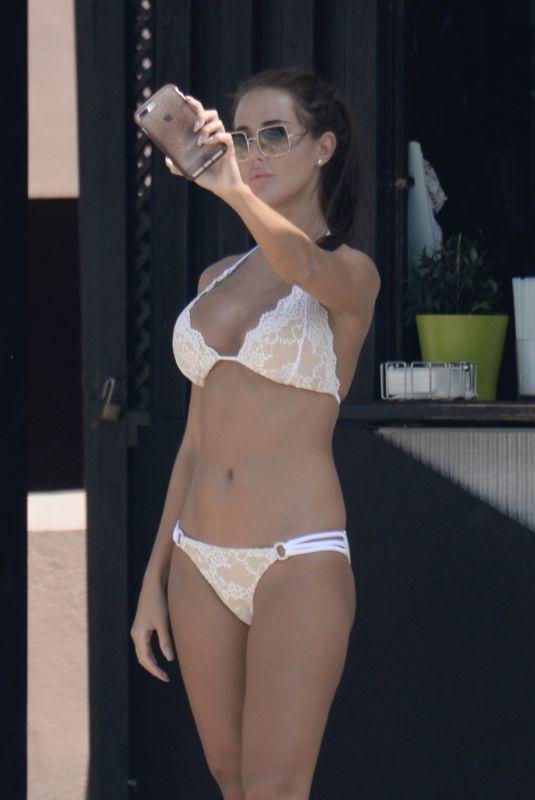 YAZMIN OUKHELLOU in Bikini Out in Marbella 09/18/2019