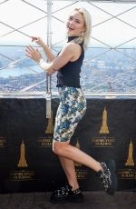 ZARA LARSSON at Empire State Building in New York 08/29/2019