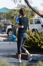 ZOOEY DESCHANEL Heading to a Gym in Los Angeles 09/16/2019